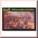 Caesar Miniatures H077: WWII German Soldiers with Tank Riders