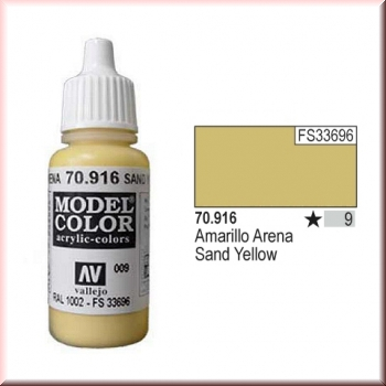 Vallejo Model Color - 009 Sand Yellow, 17 ml (70.916)