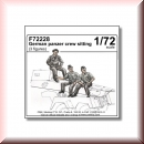 CMK Kits: 129-F72228 German panzer crew sitting 1/72 (3 figures)