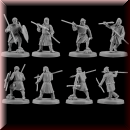 V & V Miniatures: SKU - R28.36 Pagan Rus Set VI