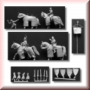 Valdemar-Miniatures: VM039 Medieval command set 1:72