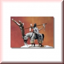 Valdemar-Miniatures: VM007 Mounted knight resting on horse 1:72
