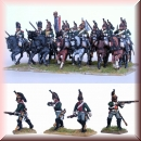 Perry Miniatures: FN130 Plastic French Napoleonic Line Dragoons (13 mounted, 8 dismounted)