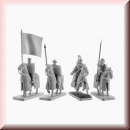 V & V Miniatures: SKU - R28.50 Mounted Crusaders Command