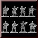 V & V Miniatures: SKU - R28.16 Norman crossbowmen