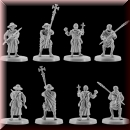 V & V Miniatures: SKU - R28.28 Pilgrims 28mm