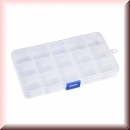 Assortment Box transparent with 15 compartments