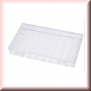 Assortment Box transparent with 36 compartments