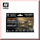 Vallejo Model Color Set: Vallejo 70.203 WWII American Armour & Infantry
