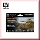 Vallejo Model Color Set: Vallejo 70.204 WWII British Armour & Infantry