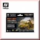 Vallejo Model Color Set: Vallejo 70.205 WWII German Armour