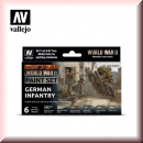 Vallejo Model Color Set: Vallejo 70.206 WWII German Infantry
