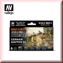 Vallejo Model Color Set: Vallejo 70.207 WWII German Waffen SS