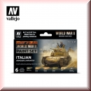 Vallejo Model Color Set: Vallejo 70.209 WWII Italian Armour & Infantry