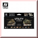 Vallejo Model Color Set: Vallejo VA 70201 Utility Paint Set WWII & WWIII